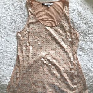J Lo sequined tank top